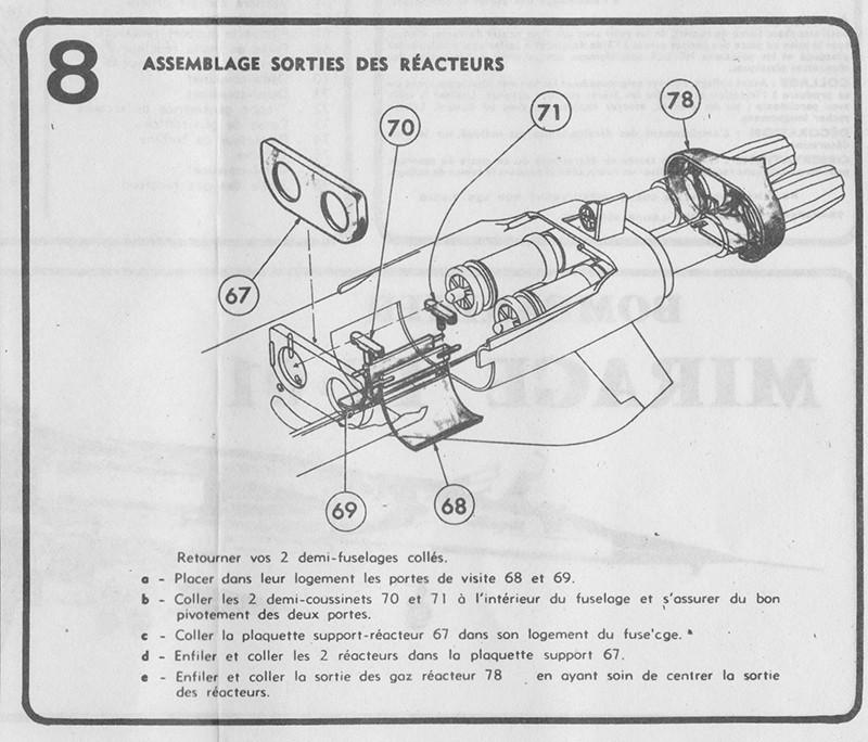 DASSAULT MIRAGE IV-01 1/50ème Réf L 830 Notice Mirage15
