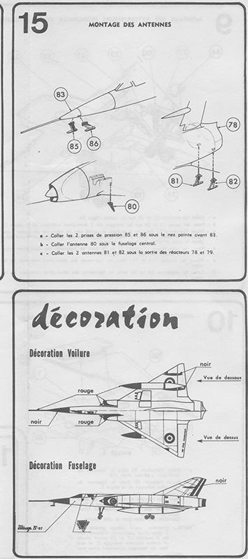 DASSAULT MIRAGE IV-01 1/50ème Réf L 830 Notice Mirage20