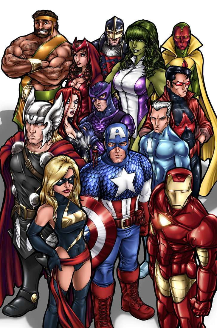 The Anime/ Manga Expendables VS The Avengers 38975110