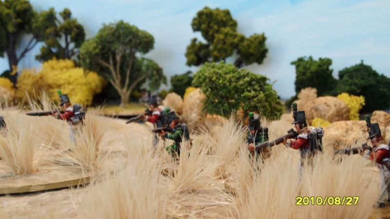La règle de la NBS et le problème du combat napoléonien colonne d'attaque contre ligne anglaise perchée sur colline Sam_1830