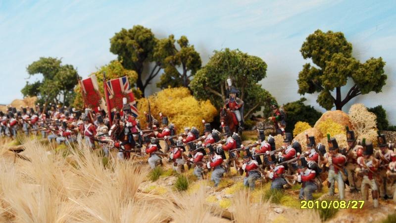 La règle de la NBS et le problème du combat napoléonien colonne d'attaque contre ligne anglaise perchée sur colline Sam_1911