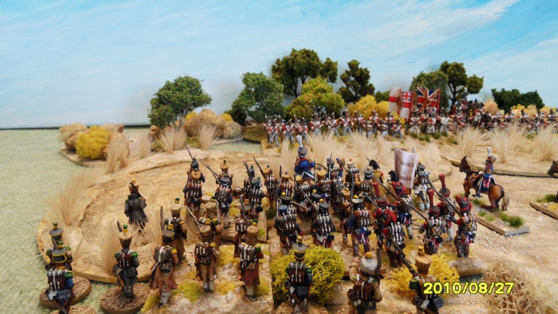 La règle de la NBS et le problème du combat napoléonien colonne d'attaque contre ligne anglaise perchée sur colline Sam_1913