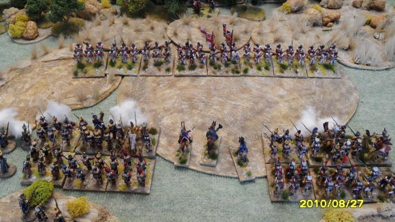 La règle de la NBS et le problème du combat napoléonien colonne d'attaque contre ligne anglaise perchée sur colline Sam_1918