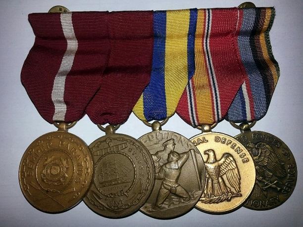 Coast Guard Medal Bars and Groups 20131110