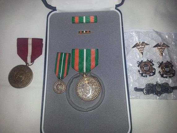 Coast Guard Medal Bars and Groups Cgam110