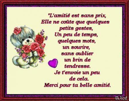 poemes  sur l'amitié Meille11