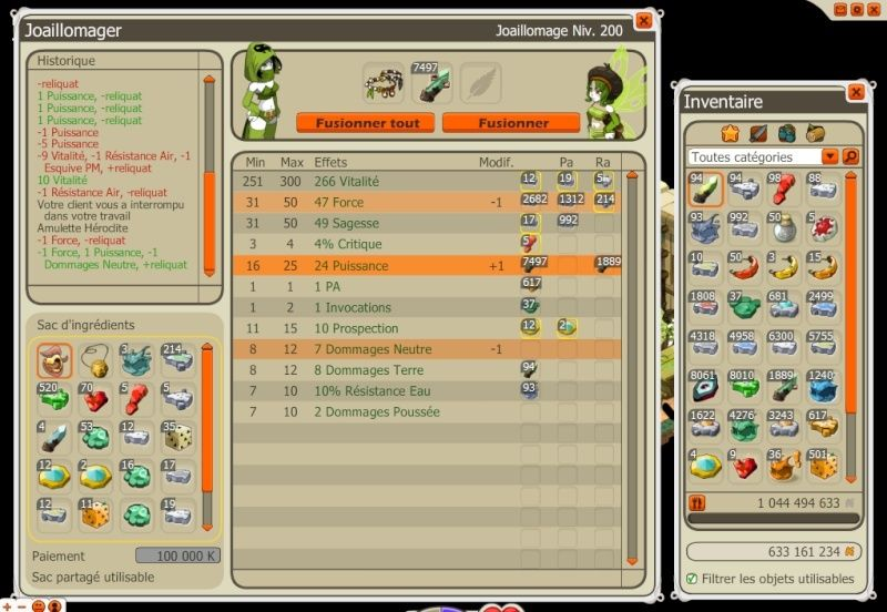 Amélioration interface forgemagie 81194010