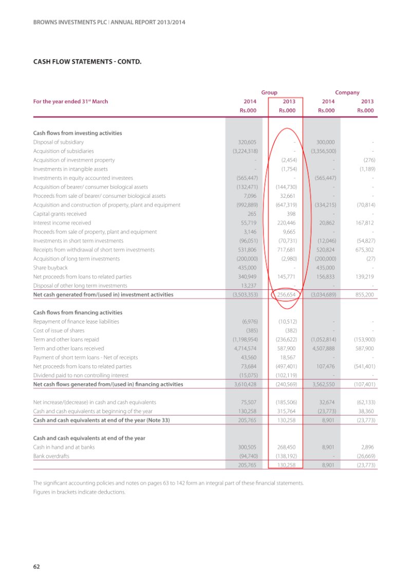 Why is this differ in same Cash Flow? Annual11