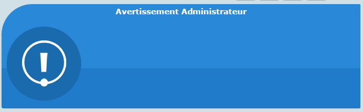 Code CSS Avertissement Admin et Modo 0110