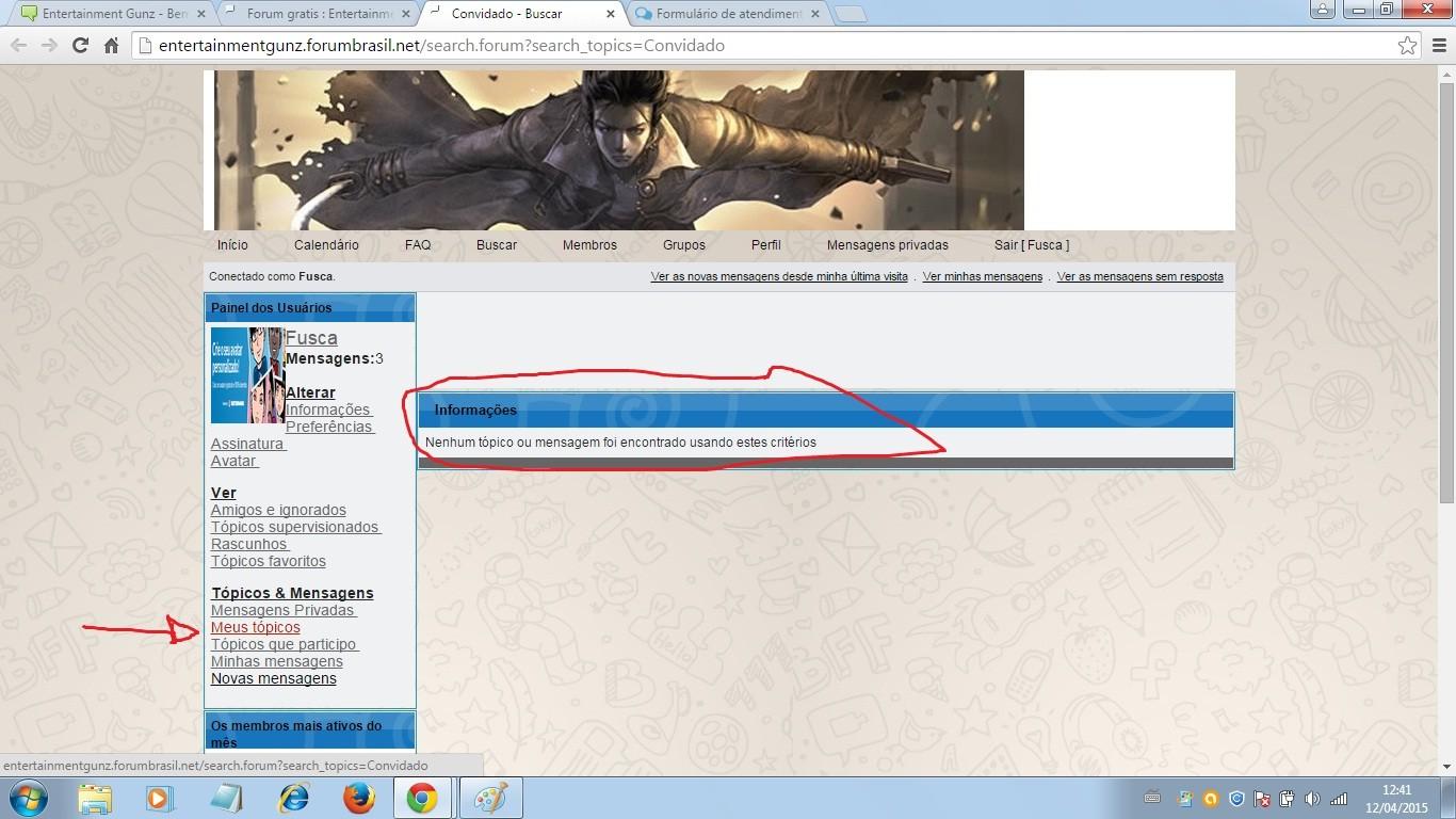 Tópicos com a tag avatar em Fórum dos Fóruns 00110