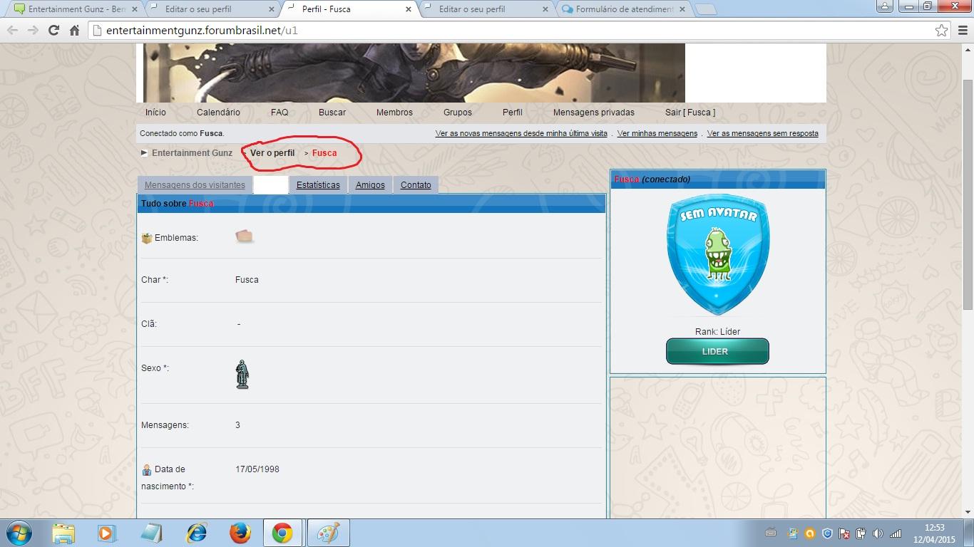 Tópicos com a tag avatar em Fórum dos Fóruns 00410