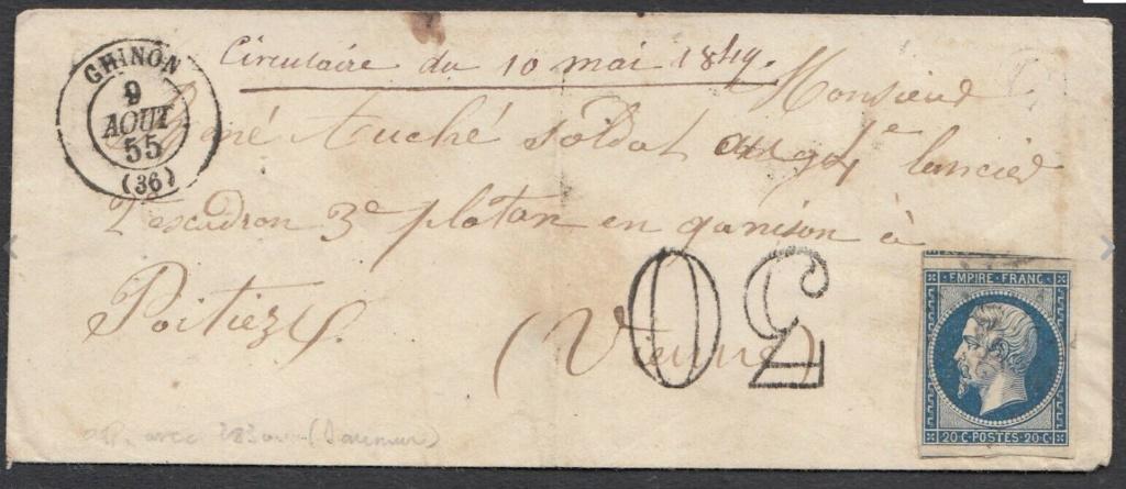 Lettre taxée - 1855 Taxee10