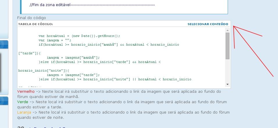 Erro ao selecionar conteúdo na caixa de códigos 111_bm10
