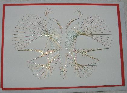 grusskarten mit Fadengrafik oder Stanzteilen 33333310
