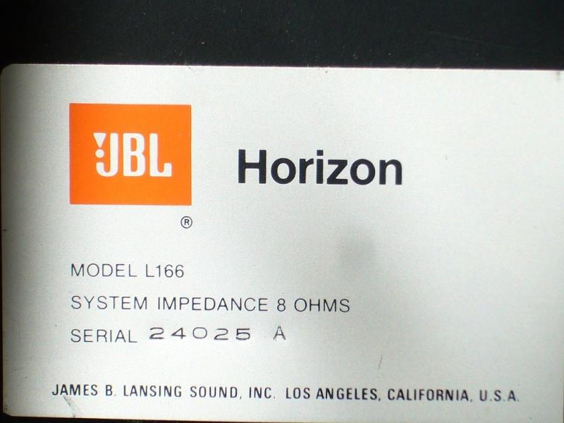 Prix JBL l166 P1080813