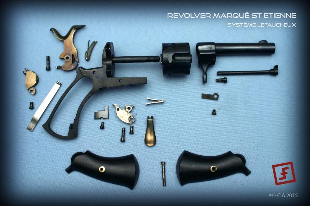 """Revolver """"Lefaucheux"""" 8mm en trop bon état ! Lefauc16"""