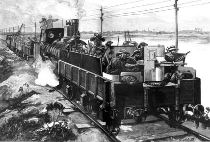 attaque d'un train blindé par l'armée mahdiste Url10