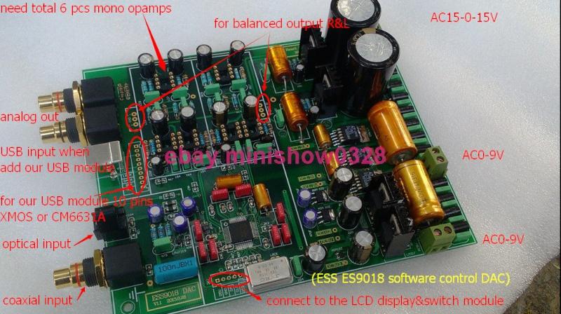 DAC ES9018 - Pcb Weiliang Es901810