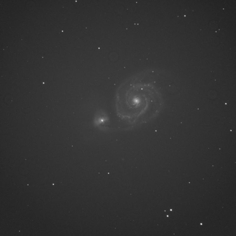 Ecart de flat M51_av10