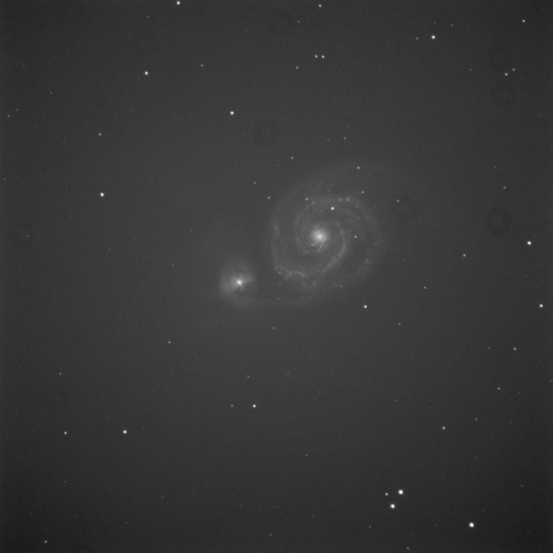 Ecart de flat M51_sa10
