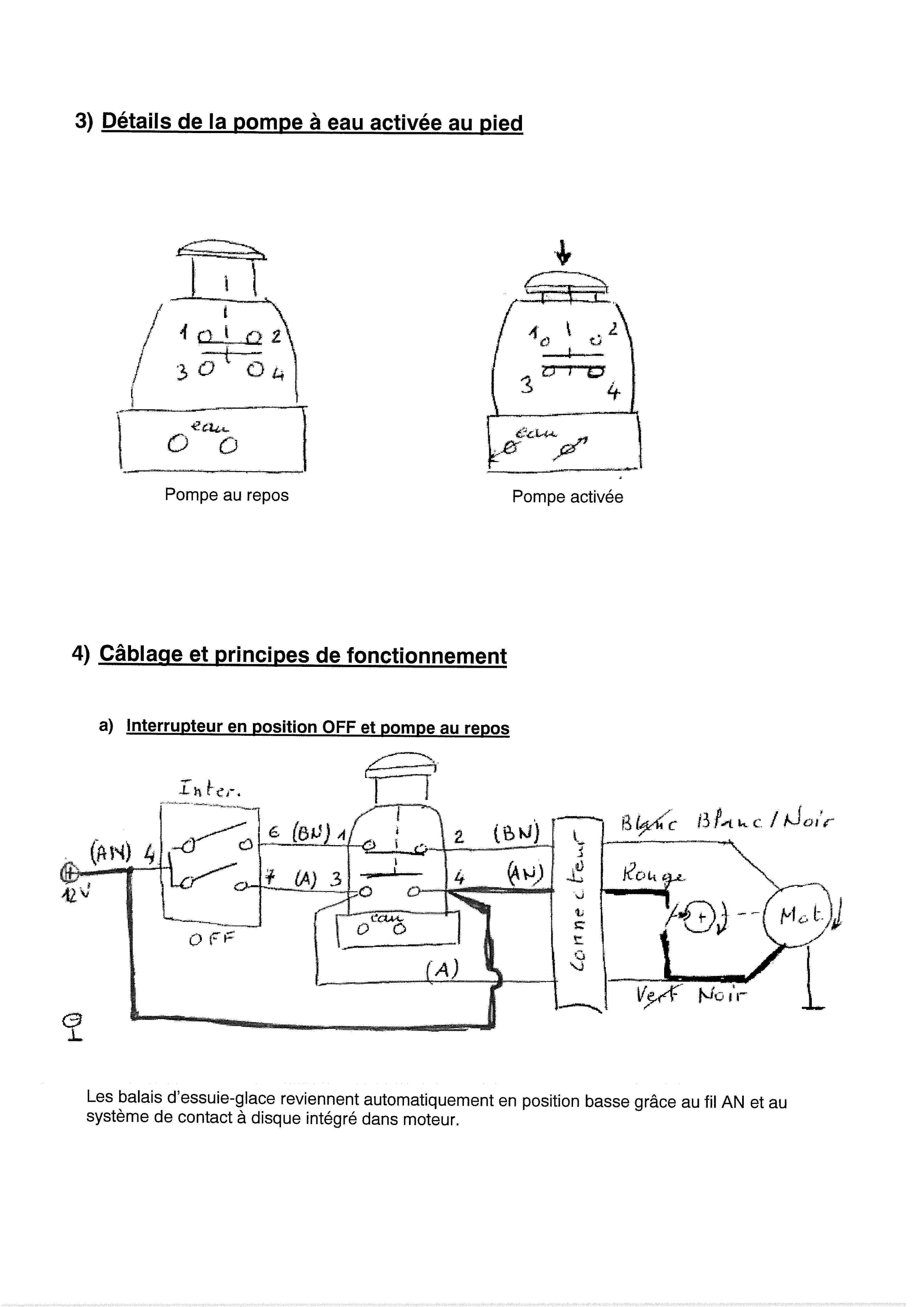 Essuie-glace - schéma électrique 00000011