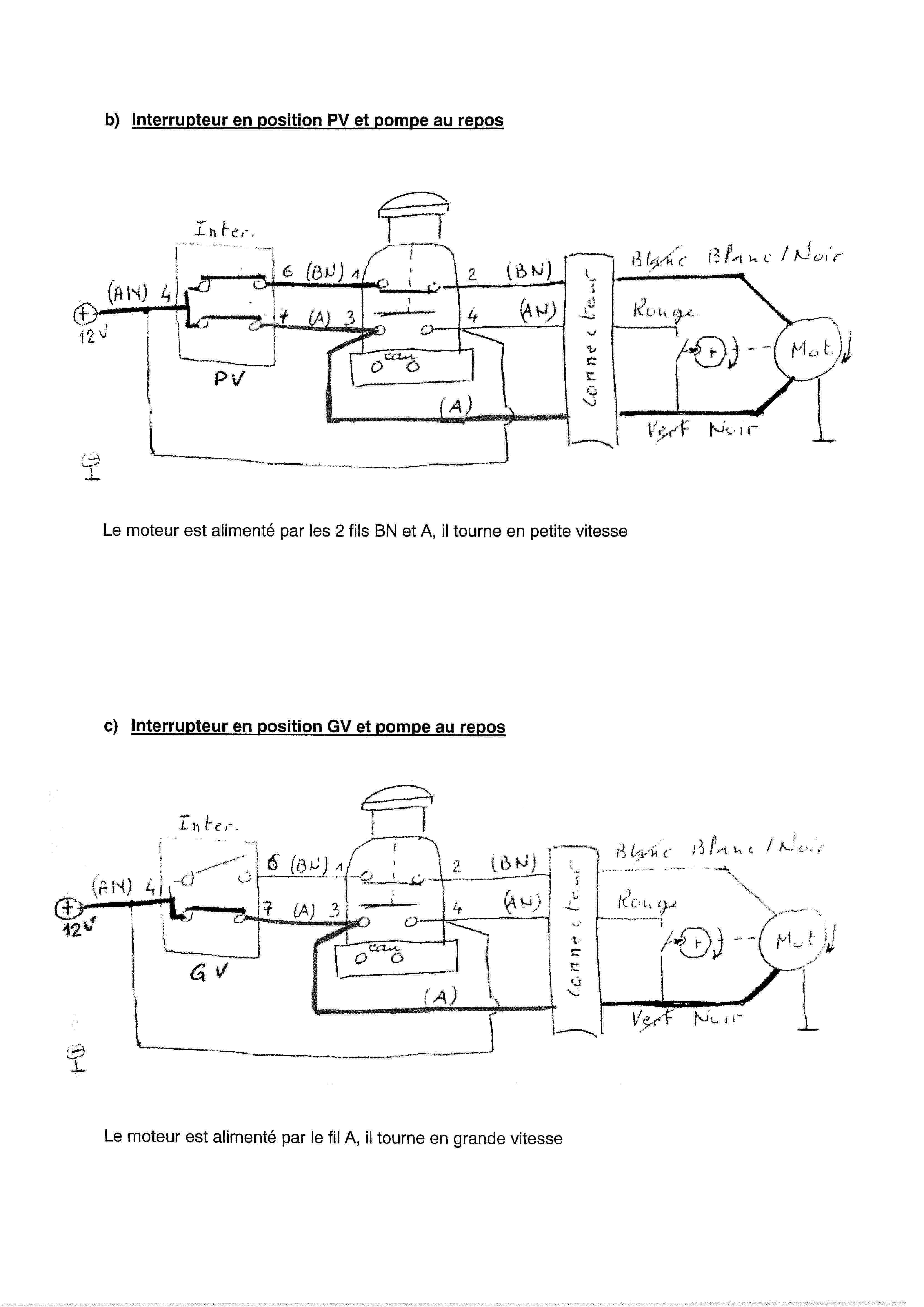 Essuie-glace - schéma électrique 00000012