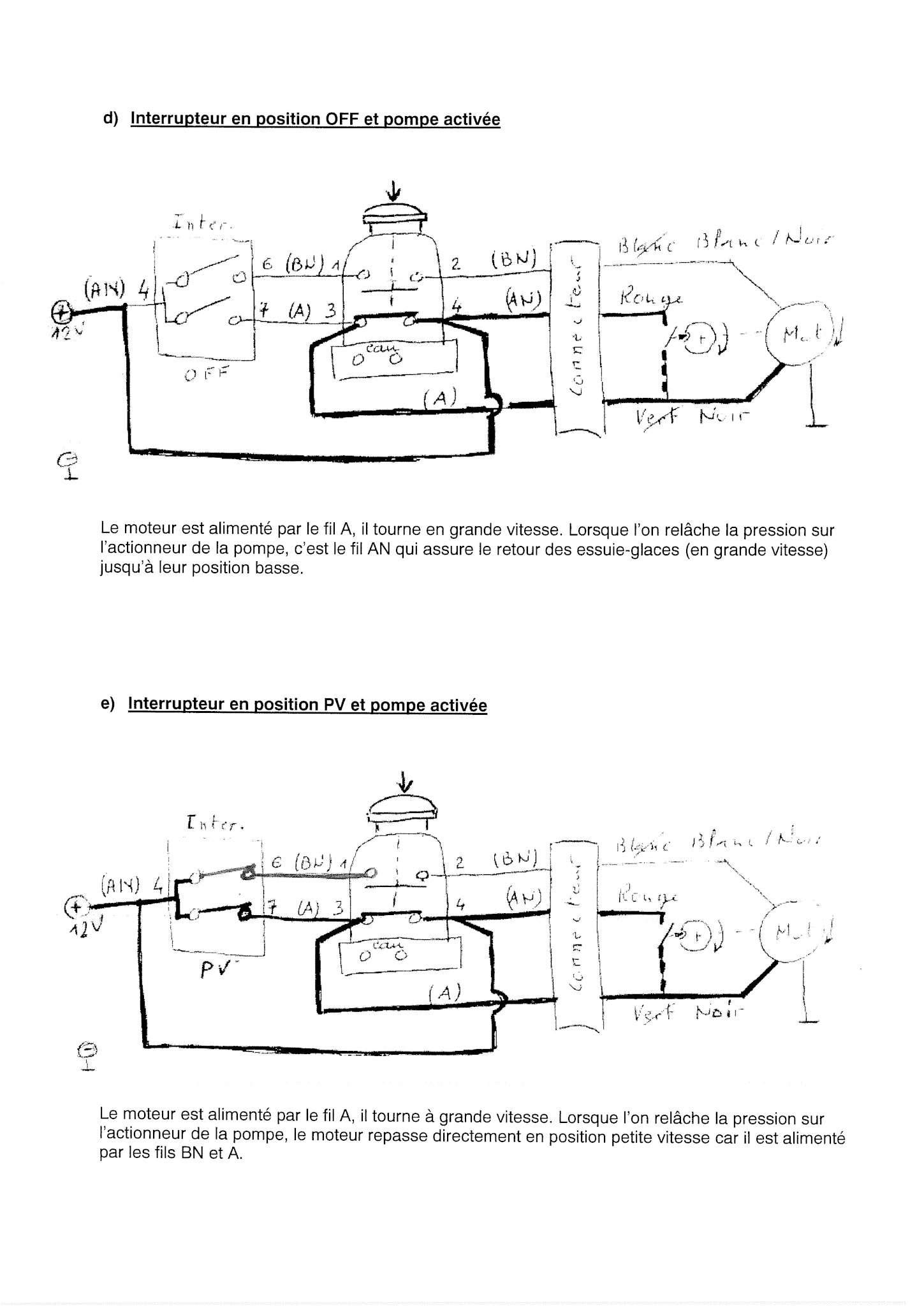 Essuie-glace - schéma électrique 00000013