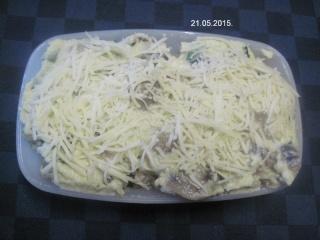 Gratin de champignons et œufs à la béchamel. photos. Img_7019