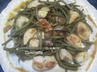 Haricots vert aux cubes de poulet.photos. Img_7050