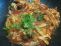 Émincé de poulet sauce tomates et olives noires.photos. Img_7035