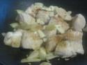 Haricots vert aux cubes de poulet.photos. Img_7045