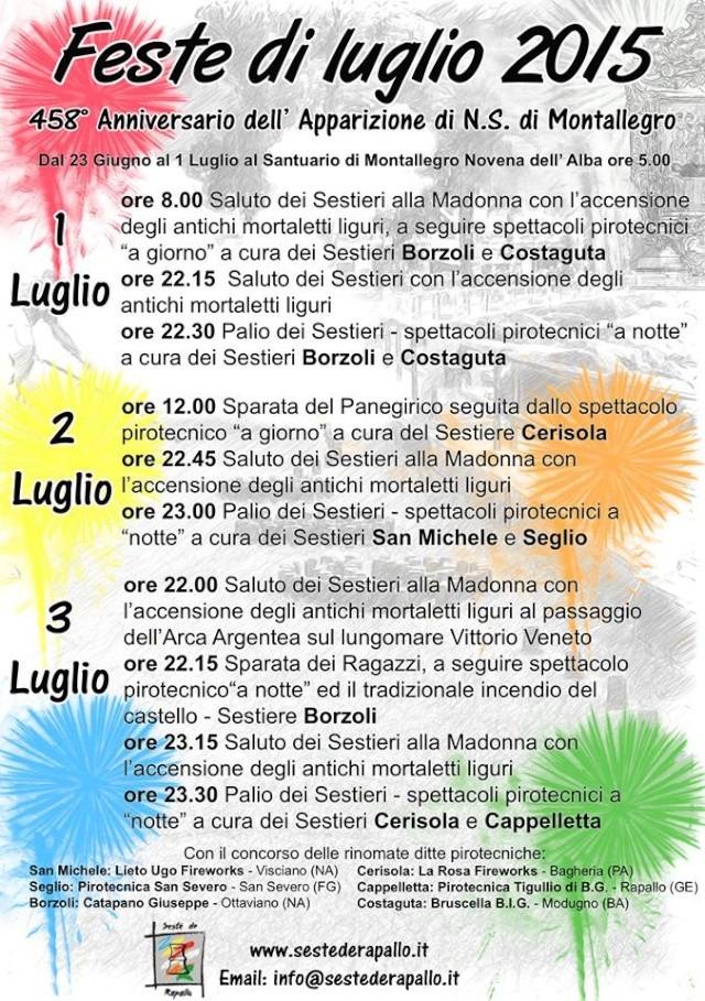 Feste di Luglio a Rapallo -  N.S. di Montallegro Progra10