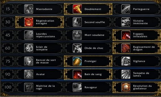 Guerrier Protection PVE Talent10