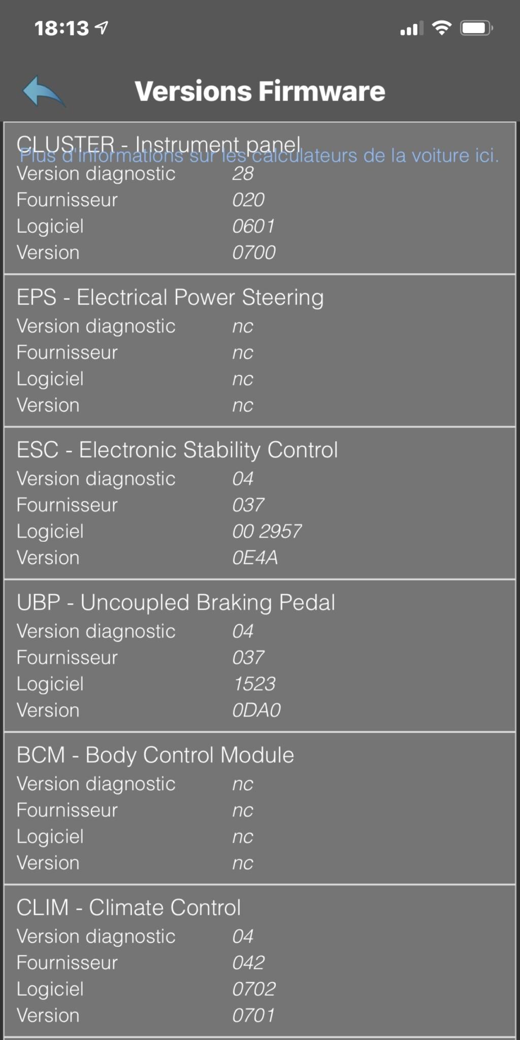 Versions des différents calculateurs par version de Zoé - Page 15 2e0b9910
