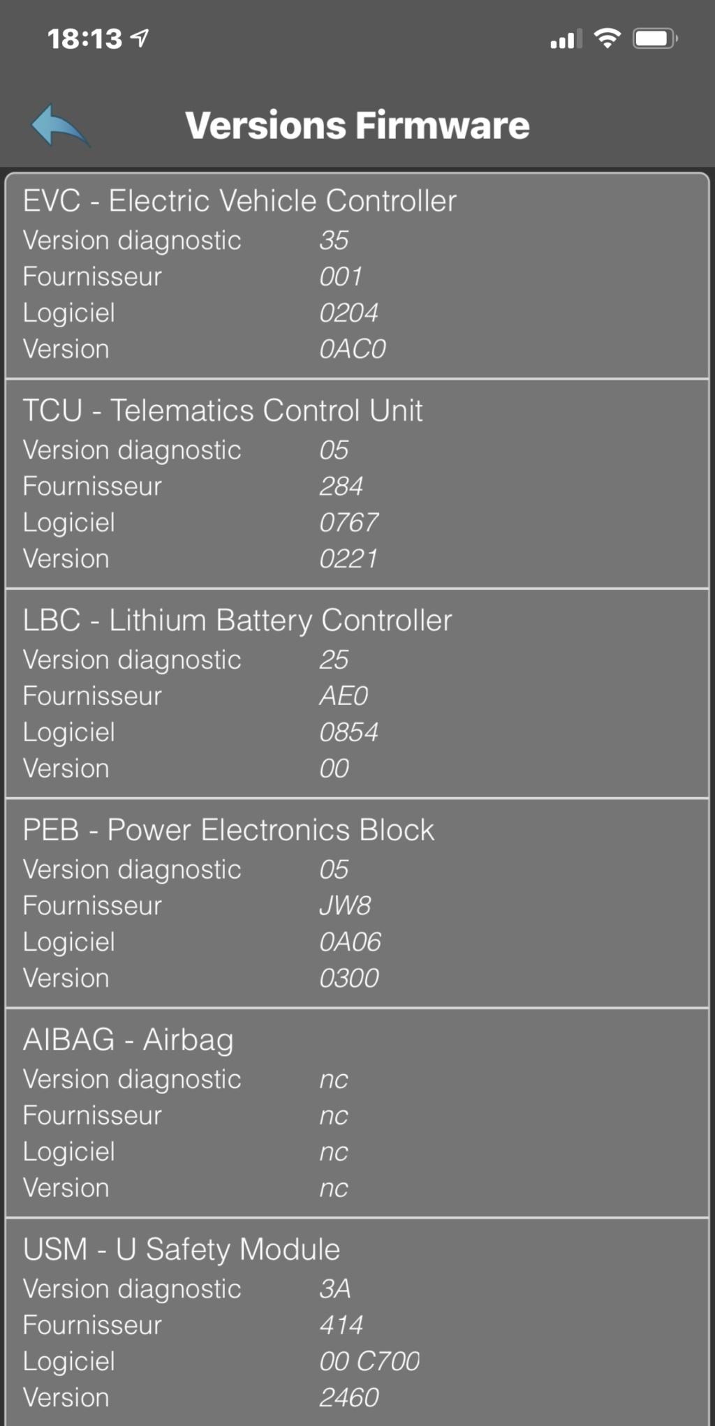 Versions des différents calculateurs par version de Zoé - Page 15 Ea6f6110