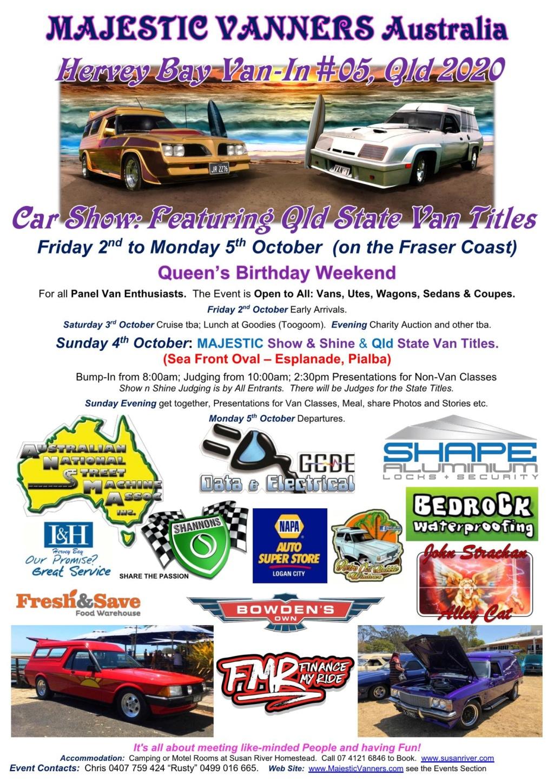2020 Van-Ins Albury/Wodonga #09, Hervey Bay #05 & Denison #02, Port Hughes #01. 2020_h11