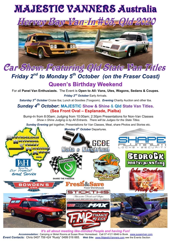 2020 Van-Ins Albury/Wodonga #09, Hervey Bay #05 & Denison #02, Port Hughes #01. 2020_h13