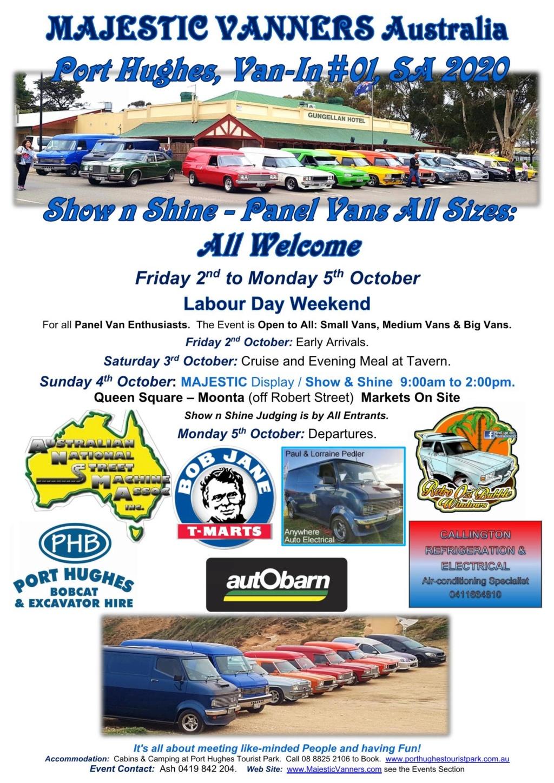 2020 Van-Ins Albury/Wodonga #09, Hervey Bay #05 & Denison #02, Port Hughes #01. 2020_s12