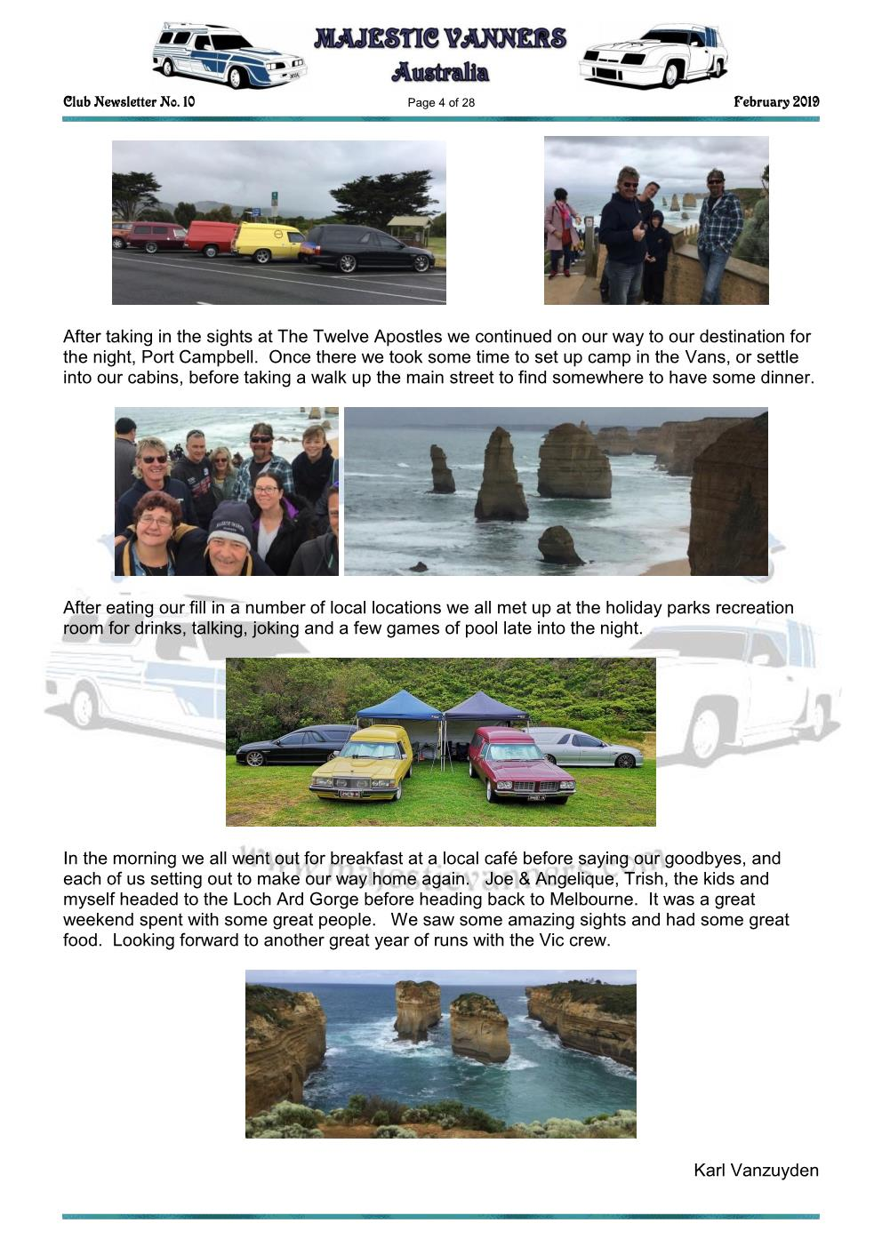 MAJESTIC VANNERS Newsletter Issue No: 10 February 2019 Mv_new13