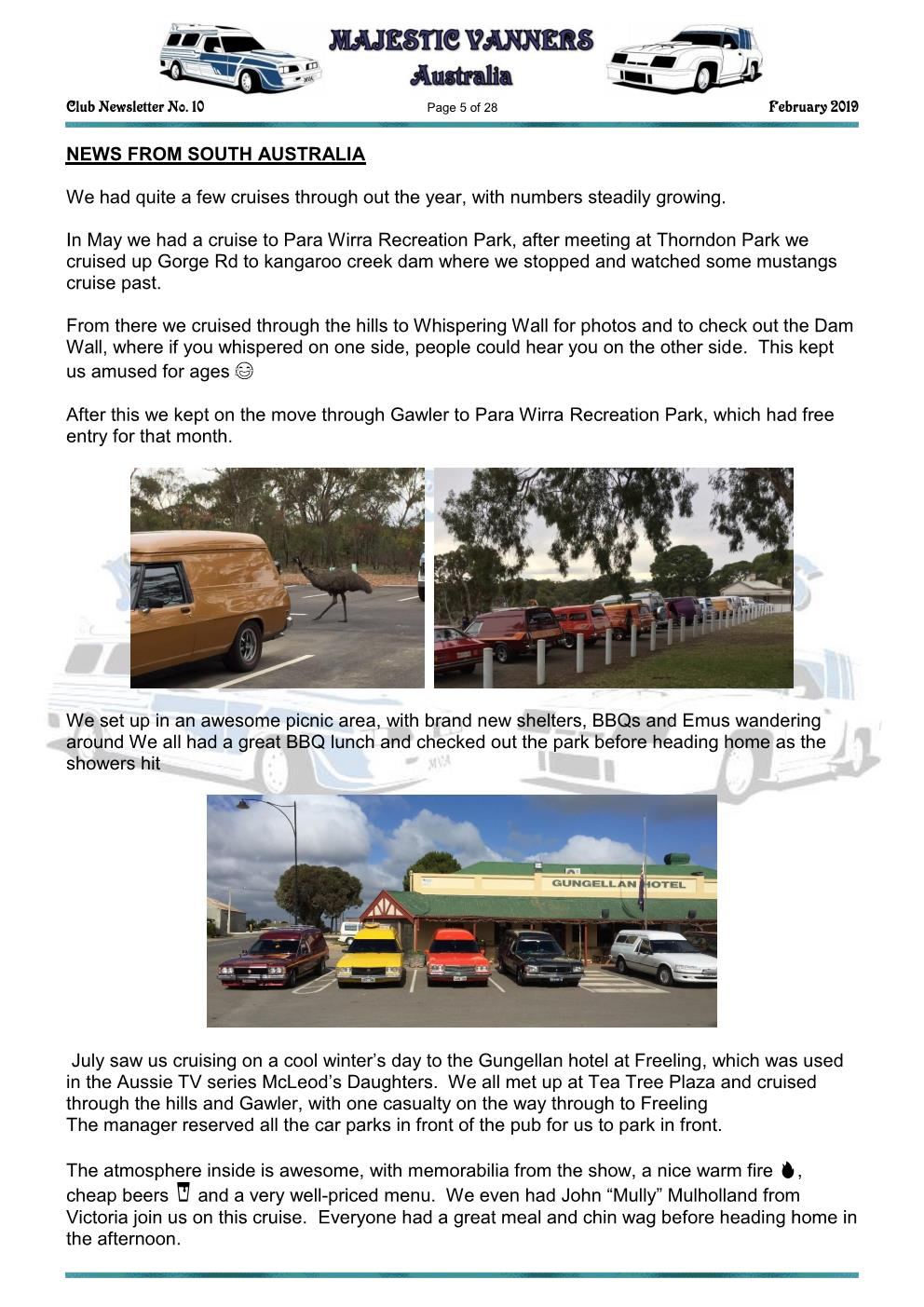 MAJESTIC VANNERS Newsletter Issue No: 10 February 2019 Mv_new14