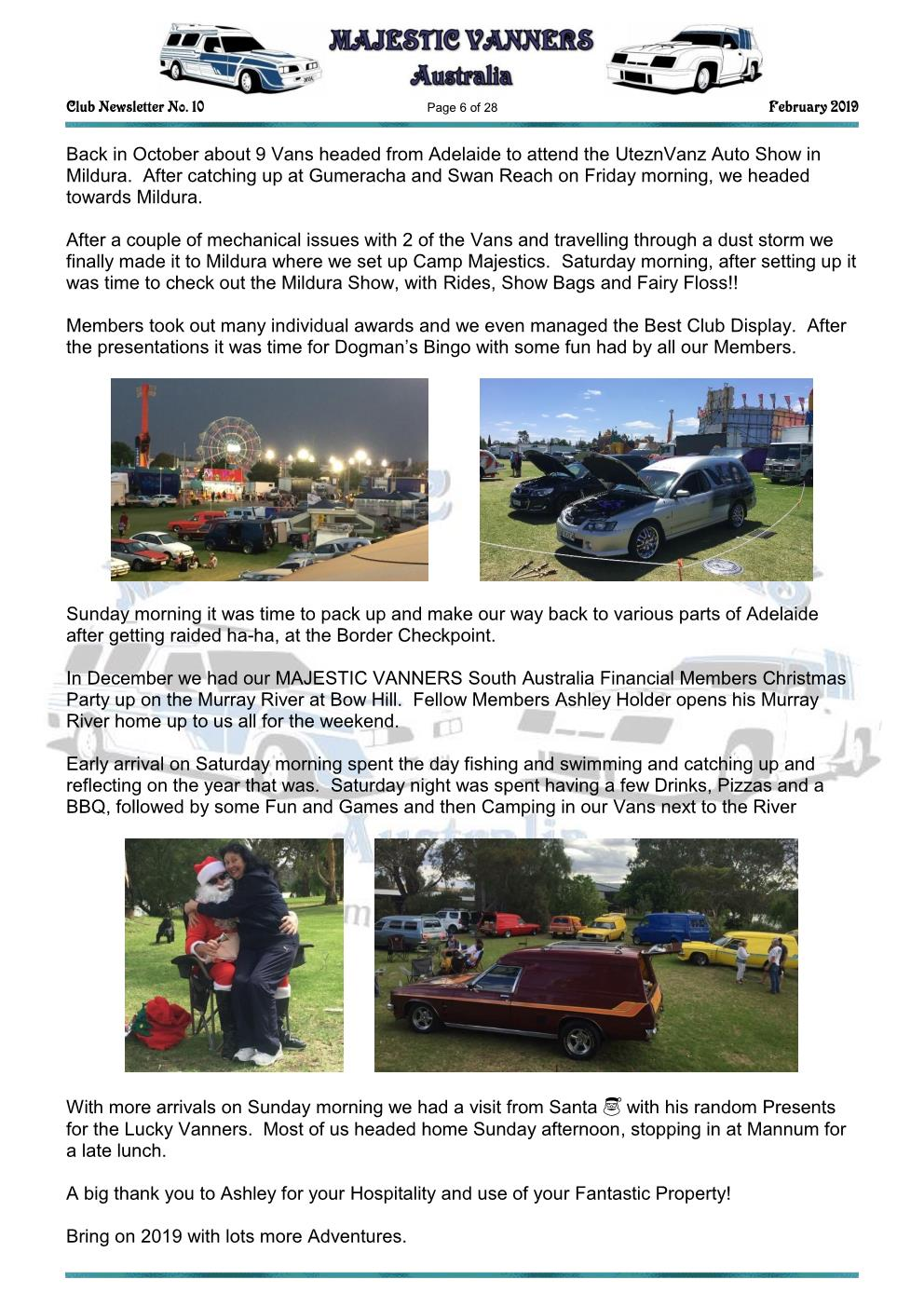 MAJESTIC VANNERS Newsletter Issue No: 10 February 2019 Mv_new15