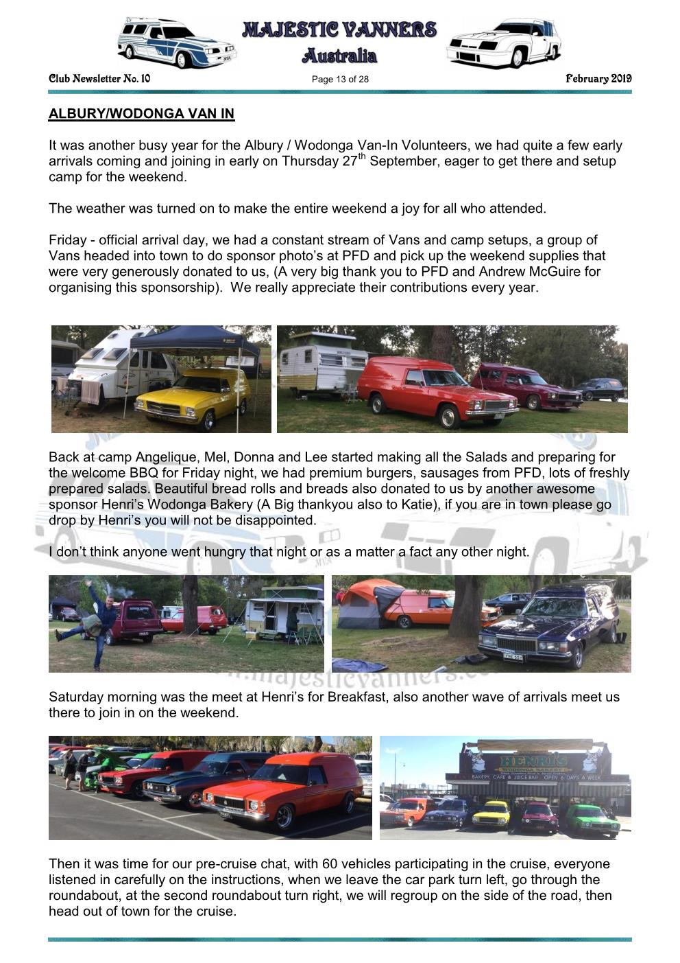MAJESTIC VANNERS Newsletter Issue No: 10 February 2019 Mv_new22