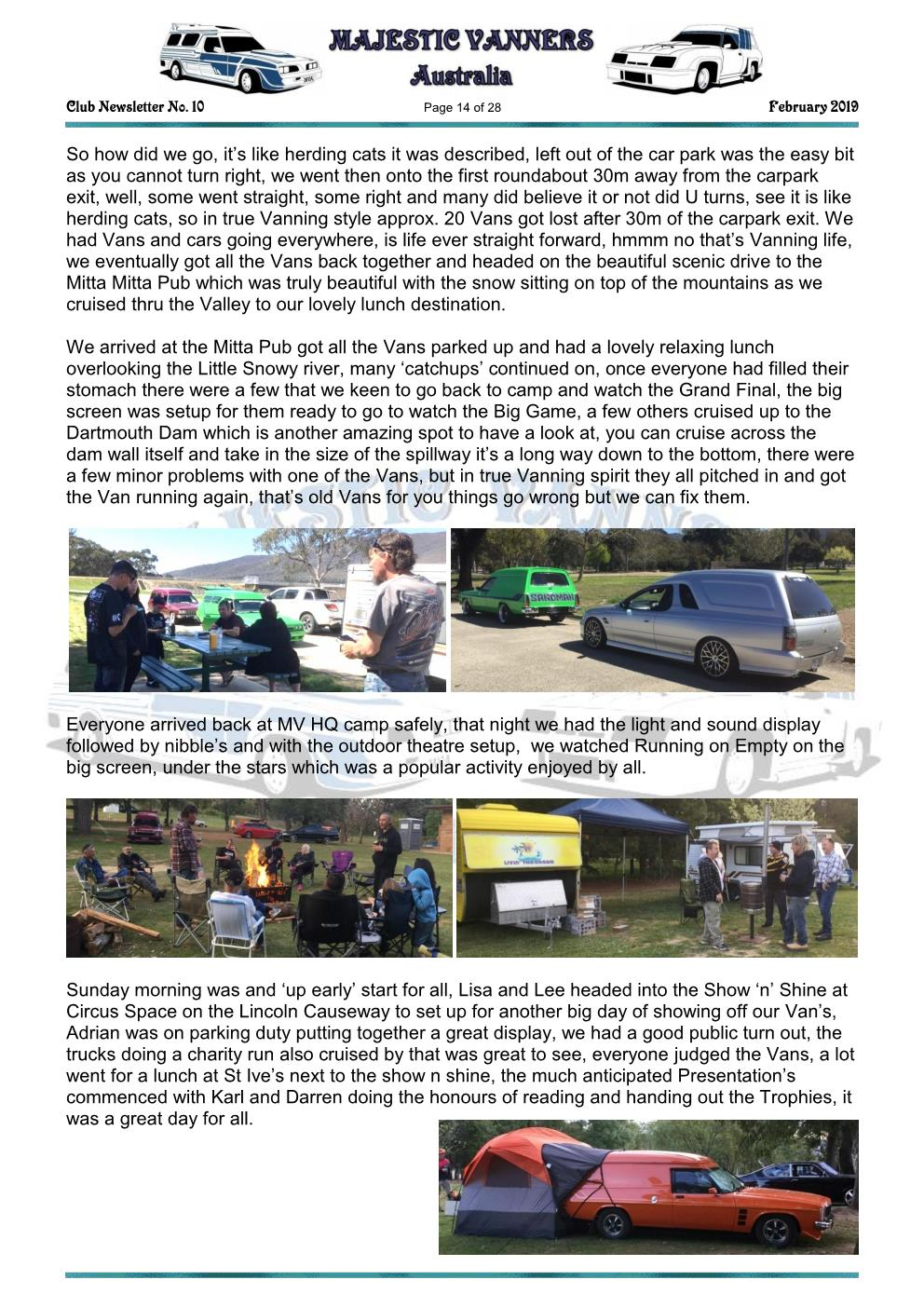 MAJESTIC VANNERS Newsletter Issue No: 10 February 2019 Mv_new24
