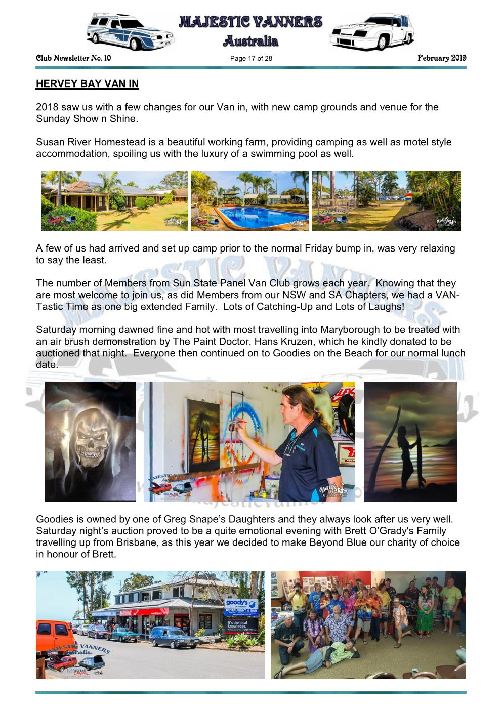 MAJESTIC VANNERS Newsletter Issue No: 10 February 2019 Mv_new26