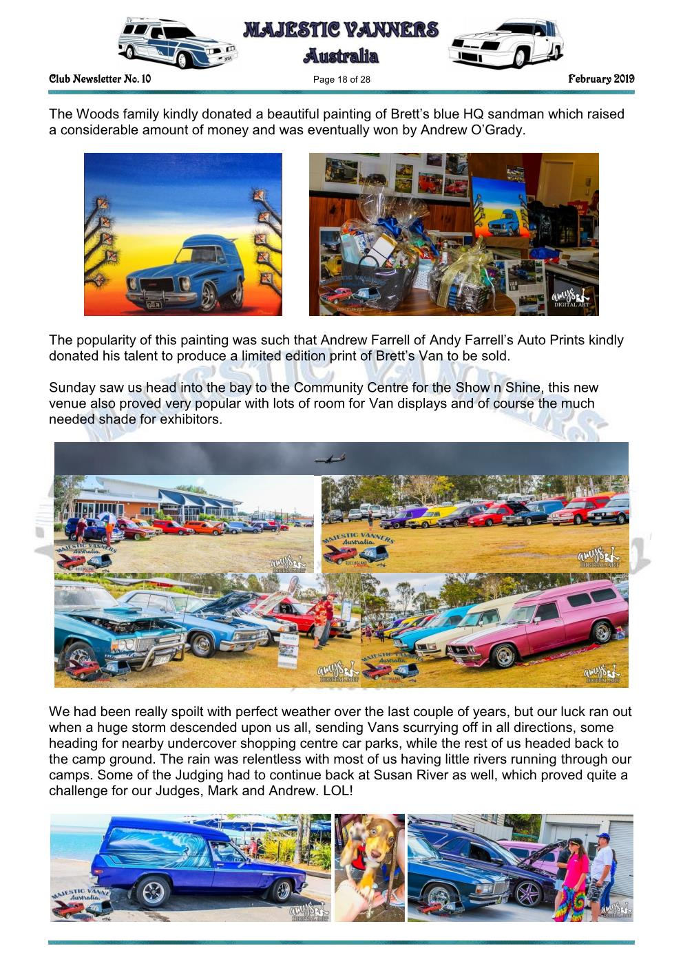 MAJESTIC VANNERS Newsletter Issue No: 10 February 2019 Mv_new27