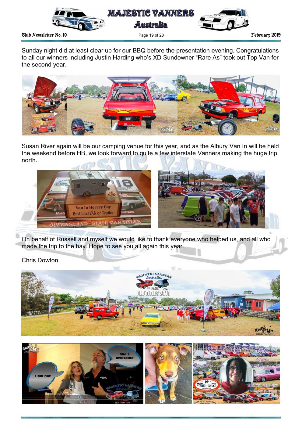 MAJESTIC VANNERS Newsletter Issue No: 10 February 2019 Mv_new28