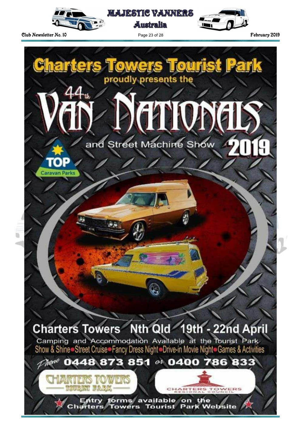 MAJESTIC VANNERS Newsletter Issue No: 10 February 2019 Mv_new32