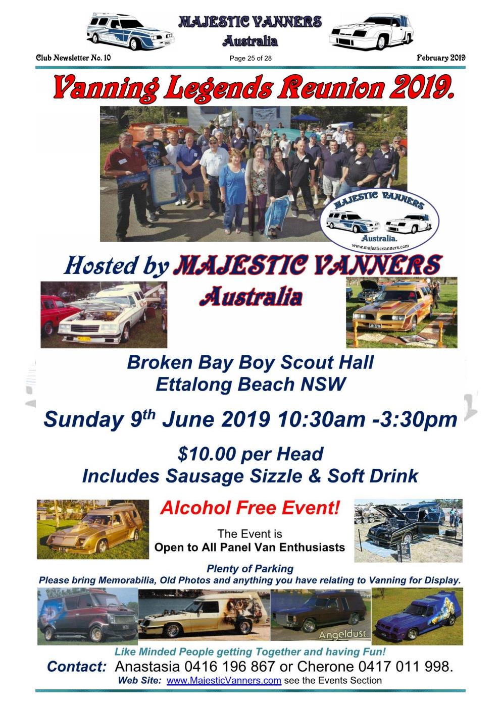 MAJESTIC VANNERS Newsletter Issue No: 10 February 2019 Mv_new34