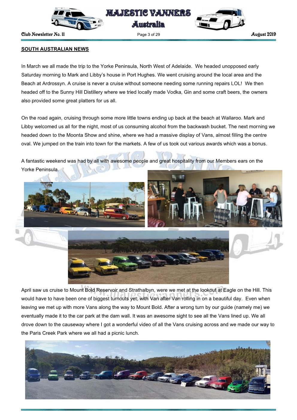 MAJESTIC VANNERS Newsletter Issue No: 11 August 2019 Mv_new39