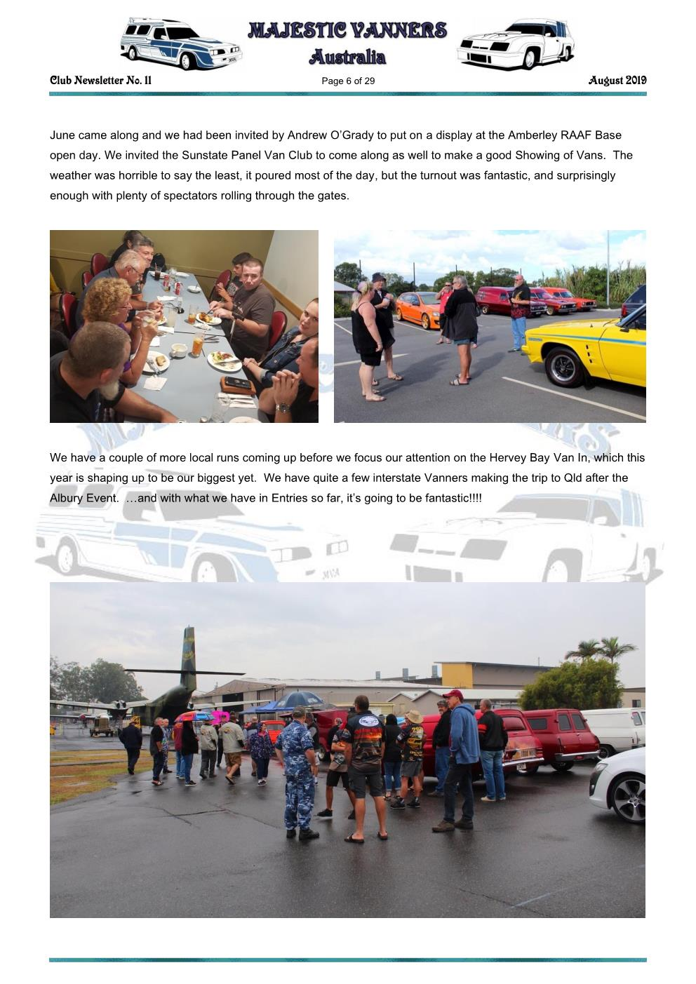 MAJESTIC VANNERS Newsletter Issue No: 11 August 2019 Mv_new44